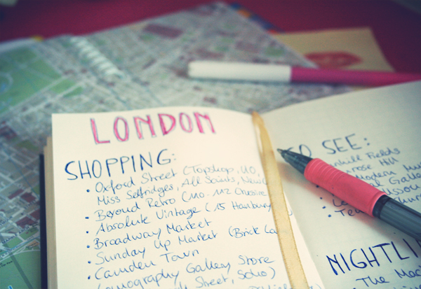 london Travel prep: How to find and organize your personal hot spots for a city trip