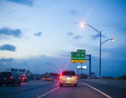 Driving through Miami