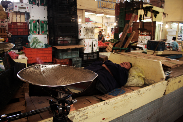 Mercado mexicano sleeping