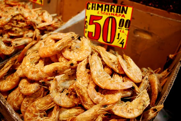dried shrimps Mercado Mexicano