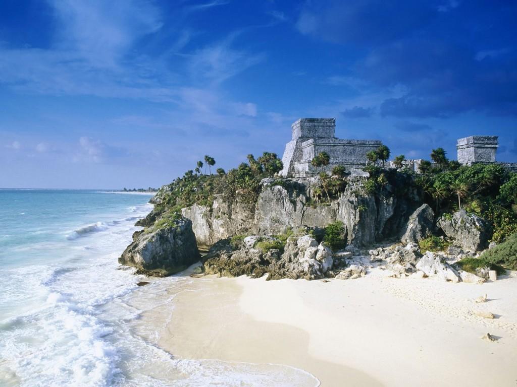 Mayan Ruins Tulum Mexico 1024x768 Slice of paradise   Tulum