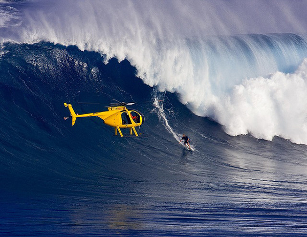 surfing tow in The History of Surfing