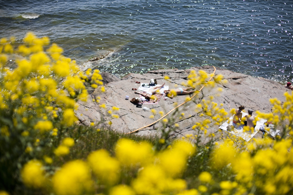 tanning in suomenlinna Suomenlinna   island magic outside Helsinki