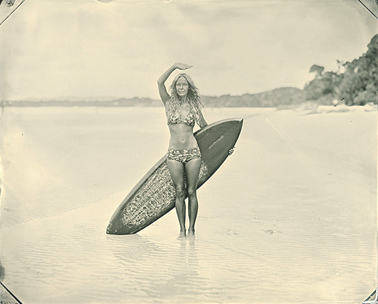 vintage surf girl The History of Surfing
