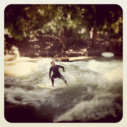 munich surfer River Surfing