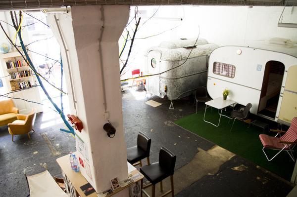 hüttenpalast Hüttenpalast, Berlin   Indoor Camping at Hut Palace