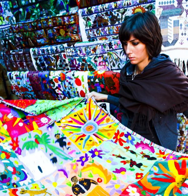 trav Colourful Fabrics Guatemala Central Americas Biggest Market