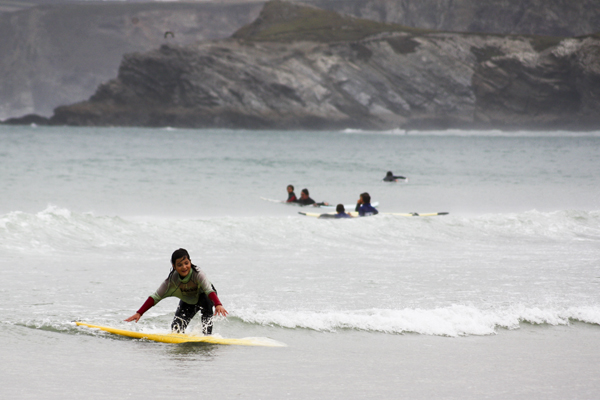 trav Surfer Girl Surfing in England   Lessons from a Pro