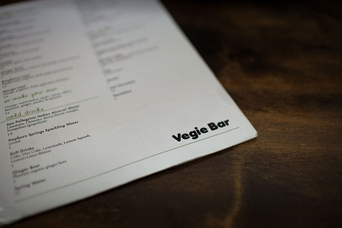 vegie bar menu The Travelettes Guide to Melbourne