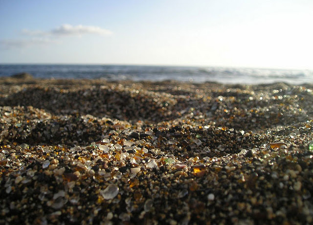 The Glass Beach: a recycled beauty