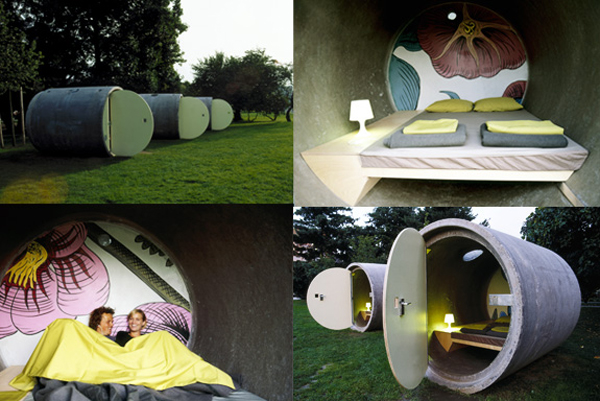 hotel Sleeping in tubes   recycled hotels