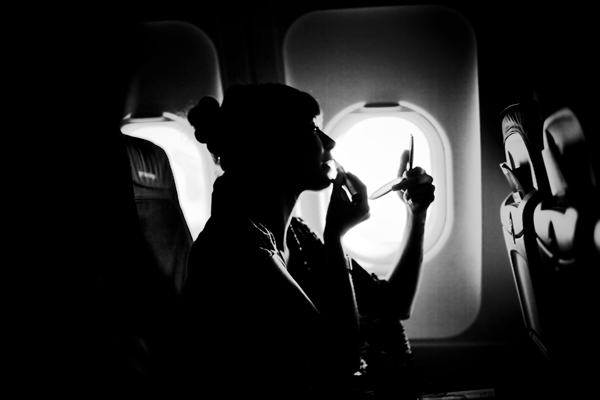 Look and feel good on long flights