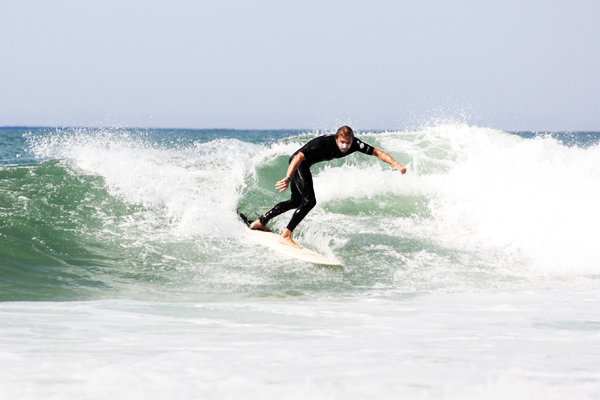 trav turning surfer 10 Great Surf Spots along the Atlantic Coast