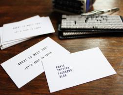 DIY Sunday: Make individual calling cards
