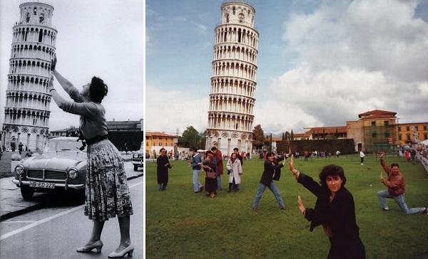 pisa collage Clichéd photo poses we should resist