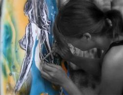 Tess Sheerin: fantasy surfboard artist