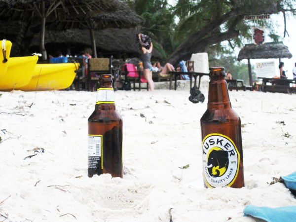 tusker Monkey business on the Kenyan coast