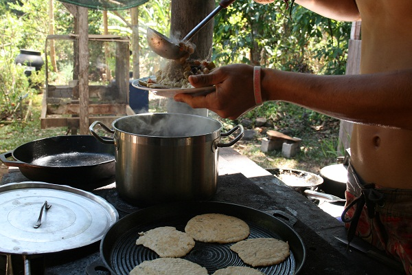 Making tortillas from scratch in Costa Rica