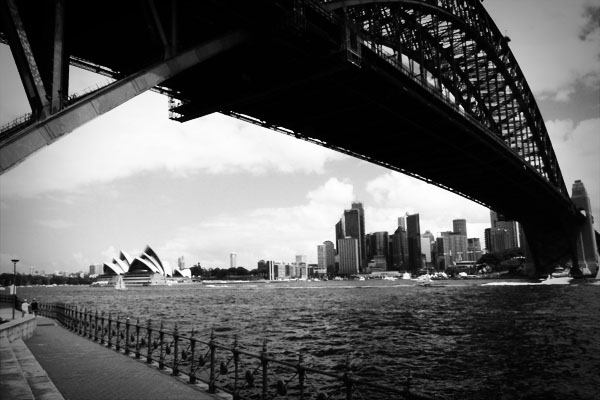 Sydney Harbour Bridge Under the bridge Take me to the bridge...
