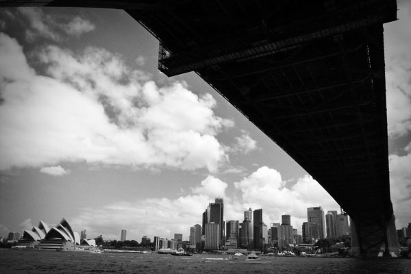 Sydney Harbour Bridge below the bridge Take me to the bridge...