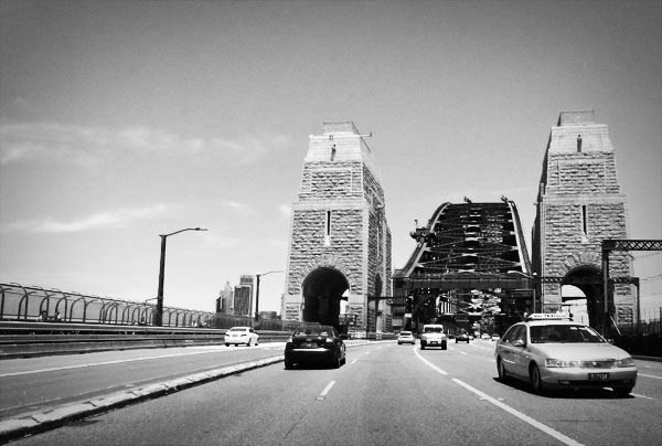 Sydney Harbour Bridge driving over the bridge Take me to the bridge...