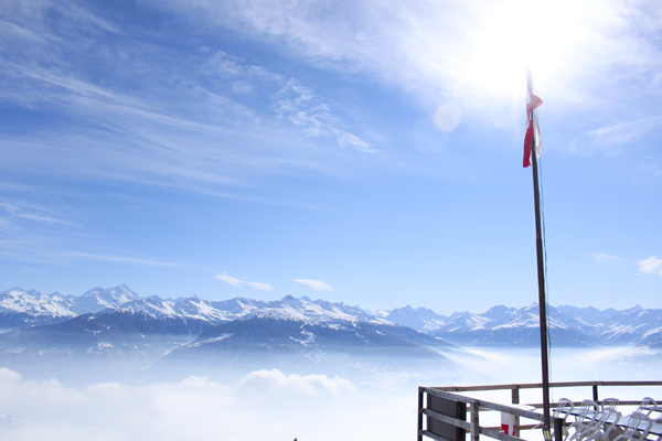 trav anzere view Above the clouds   Mountain Panoramas of Switzerland