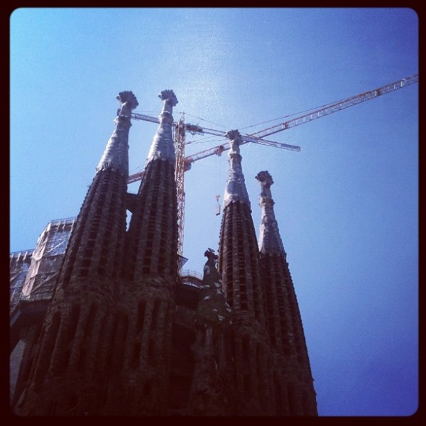 Barcelona Gaudi Sagarada Familia 600x600 Frankies 5 countries through Instagram