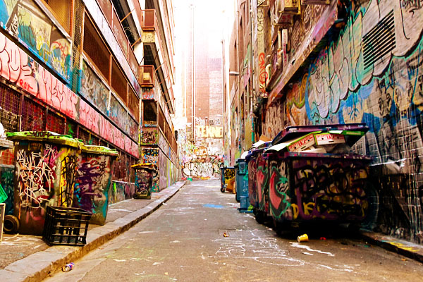 Melbourne Street Art Alleyway Travelettes Woz Ere: Street Art in Melbourne