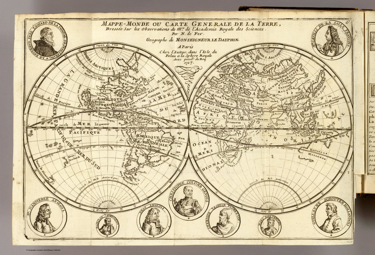 map of the world 1717