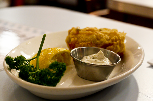 trav fishcake and remoulade Poppies: The Place to Eat Fish and Chips in London