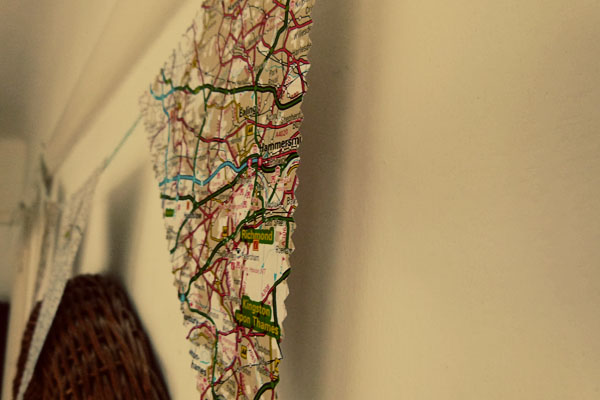 Close Up Map Bunting London DIY Sunday: Map Bunting