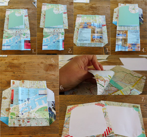 DIY Envelope Tutorial DIY Sunday: Map gift cards and envelopes