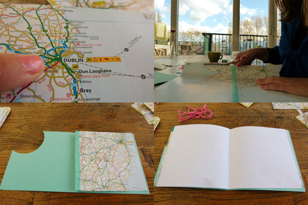 Dublin Card DIY Sunday: Map gift cards and envelopes