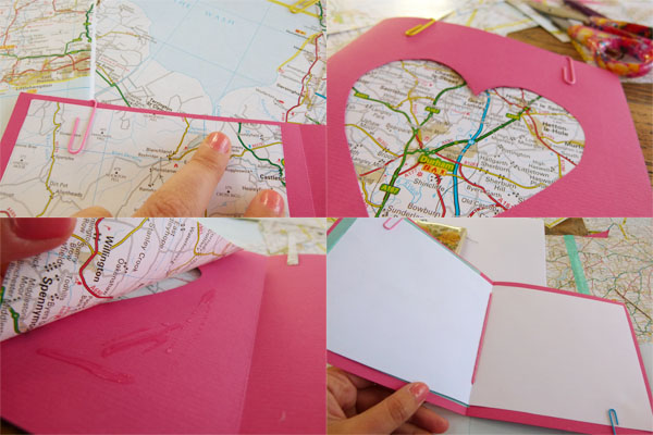 Pink Card DIY Sunday: Map gift cards and envelopes