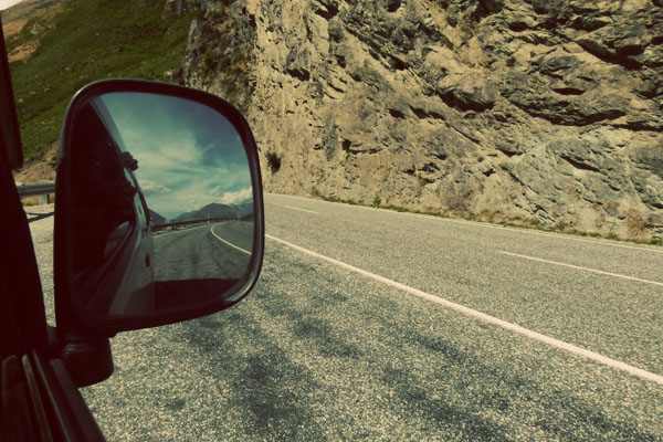 Rearview mirror NZ Two girls, two islands, one campervan: Camping it up in New Zealand