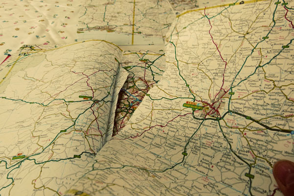 Road Atlas close up DIY Sunday: Map Bunting