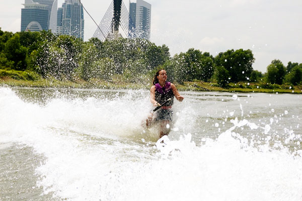 Travelettes Falling Wakeboarding Wakeboarding in Malaysia