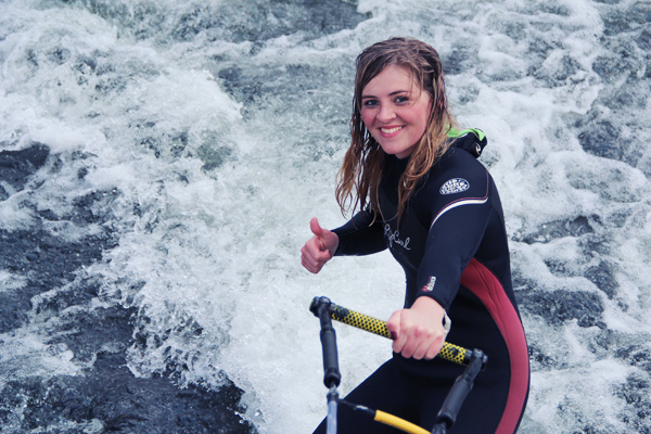 Riding the River.... On My Surfboard