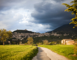 Bike ride through Assisi