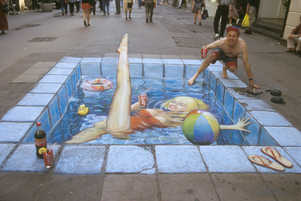 Pool Sidewalk art Side chalk art around the world