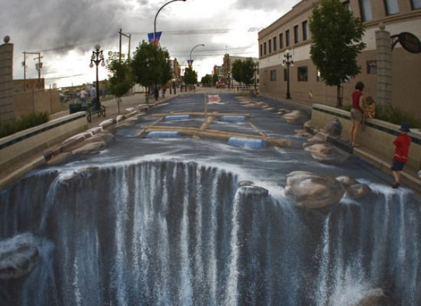 Side chalk art around the world
