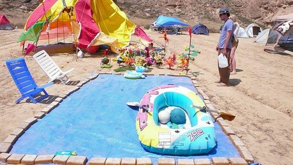 Paddling pool Nowhere festival in Spain  Burning Man for Europeans