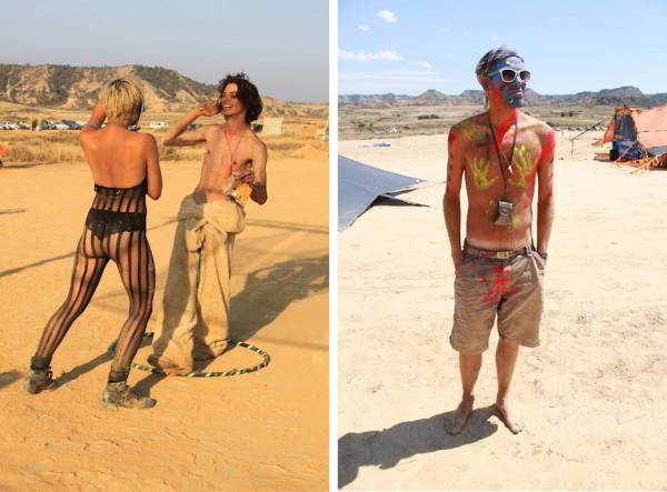 nowhere festival attendants 600x443 Nowhere festival in Spain  Burning Man for Europeans