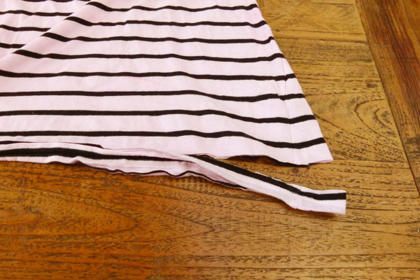 Cut off seam DIY Sunday: Turn an old T shirt into a new necklace