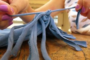 Tie double knot