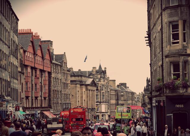Edinburgh during Fringe
