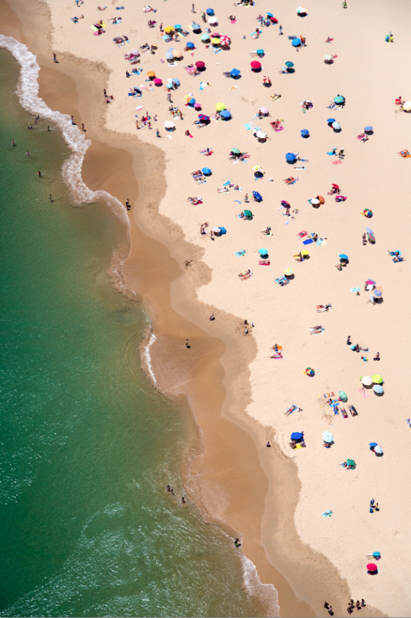 Lisbon Beach Portugal1 600x902 Beach Life   Aerial Photography by Gray Malin