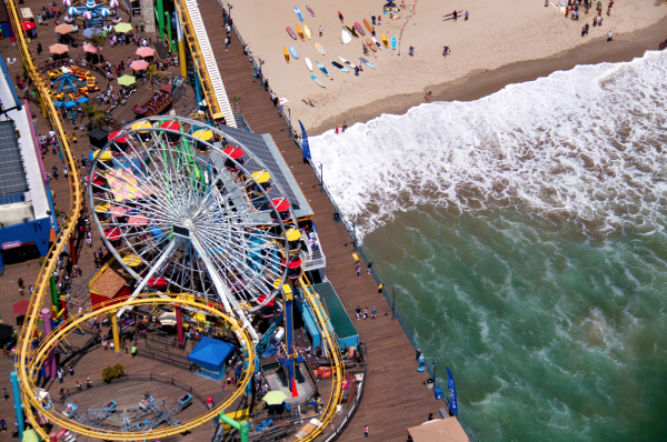Santa Monica Pier LA 600x398 Beach Life   Aerial Photography by Gray Malin