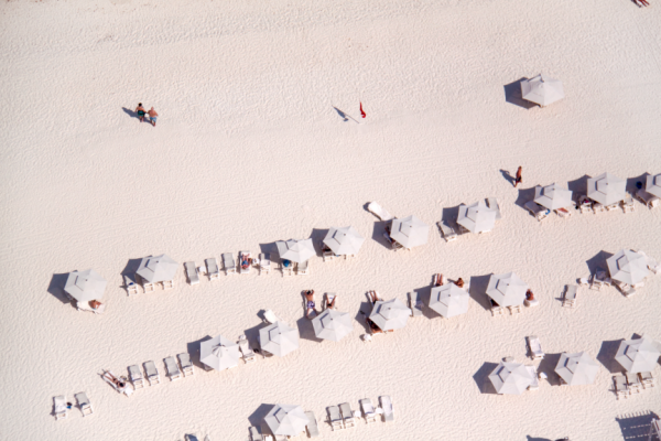 White Sand White Umbrellas Caribbean 600x400 Beach Life   Aerial Photography by Gray Malin