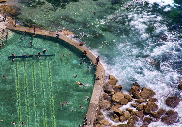 bronte baths horizontal 600x419 Beach Life   Aerial Photography by Gray Malin
